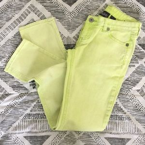 ⭐️City Streets Lime Green Faded Slim Fit Jr Jeans